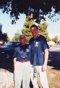 Grandmaster Helio Gracie and Ryan Deichert